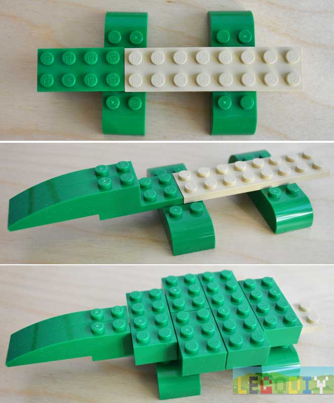 lego crocodile step 1
