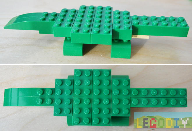 lego crocodile step 2
