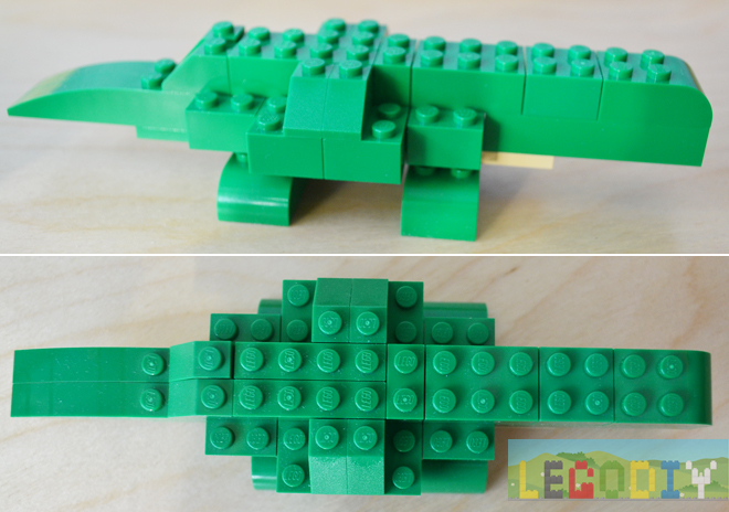 lego crocodile step 3