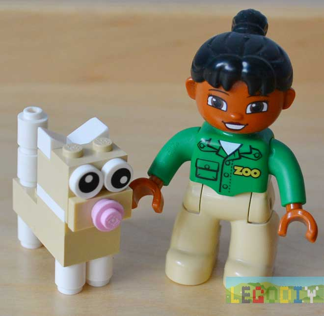 LEGO kitten with lego duplo girl