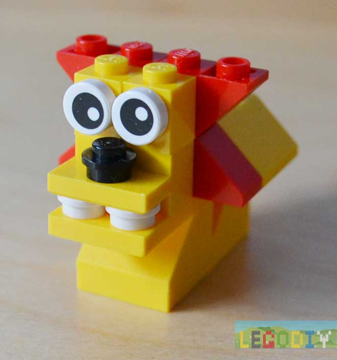 lion from lego bricks