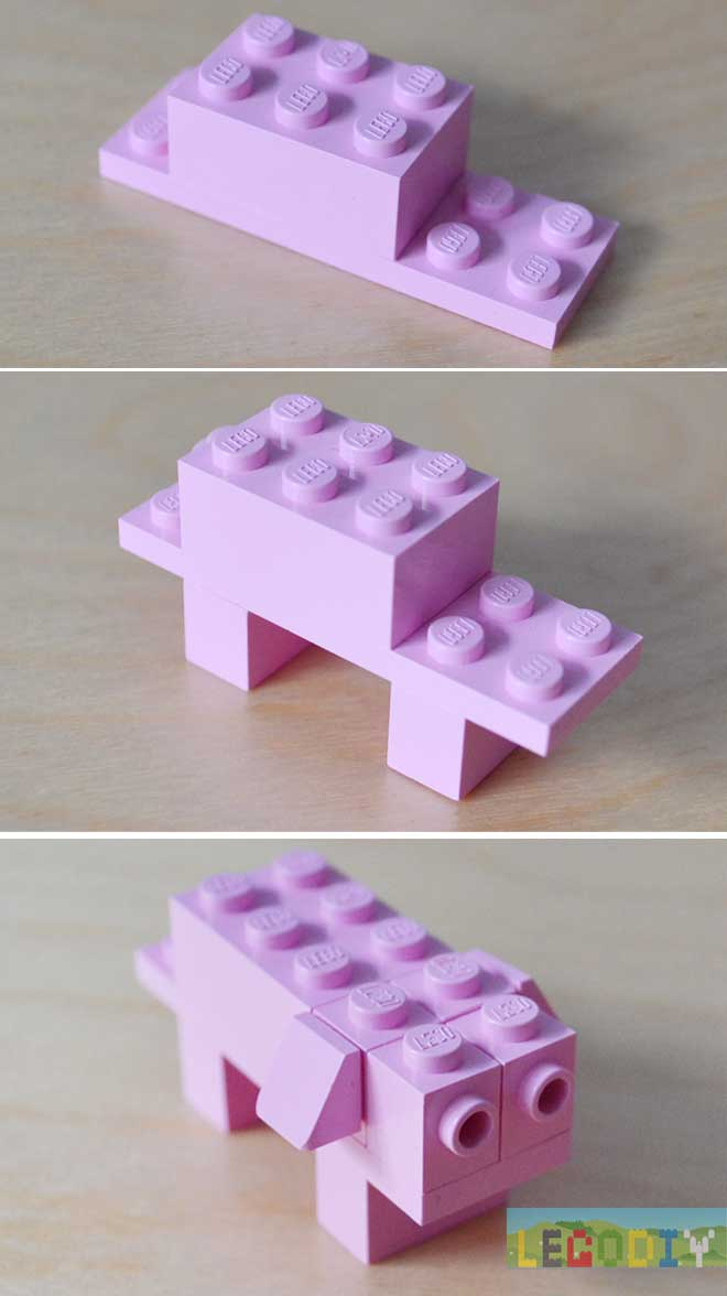 lego pig instruction
