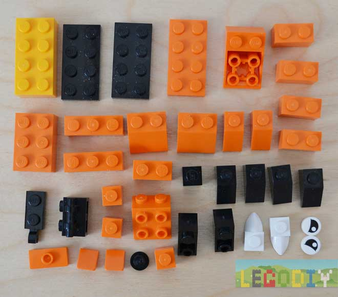 lego tiger bricks