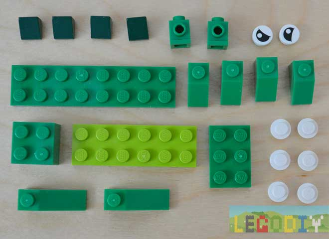 lego crocodile 2 bricks