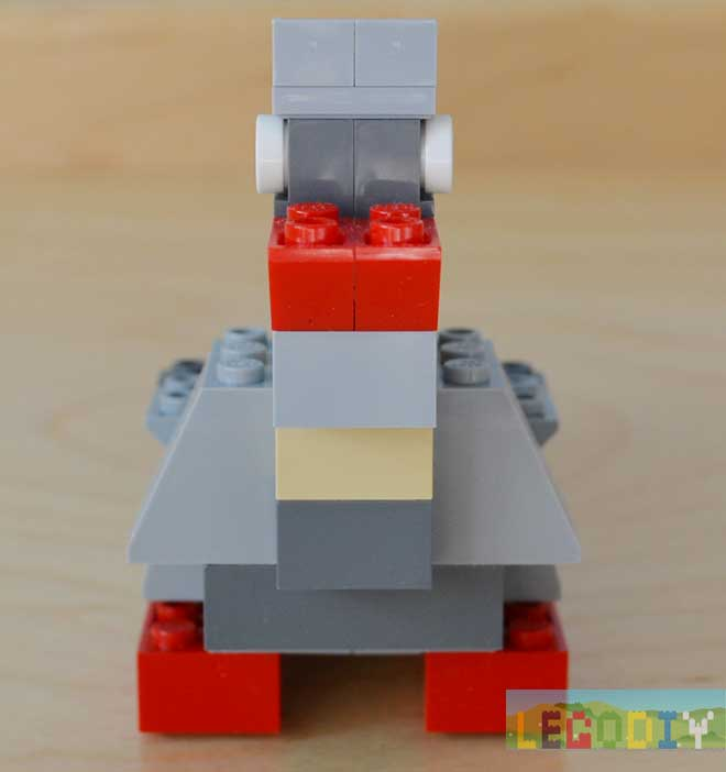 lego pigeon front