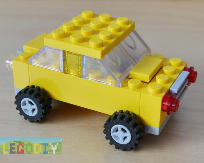 Yellow car from Lego 10696