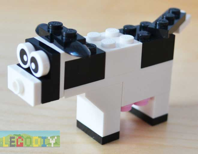 cow from lego bricks