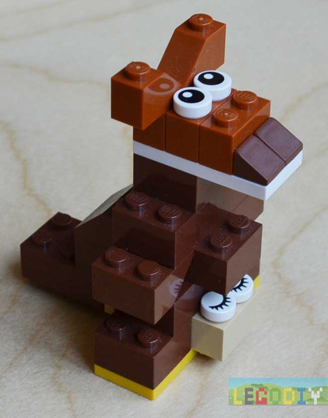 lego kangaroo from classic bricks